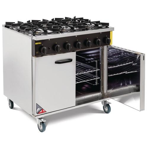 Buffalo 6 Burner Natural Gas Oven Range